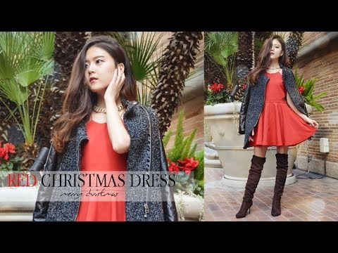 Diy red party dress for christmas youtube for Diy party dress