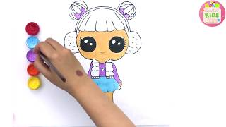Drawing LOL Surprise Dolls Snow Angel Cute girl How To Draw & Coloring for Kids | Candy Kids Art ☆