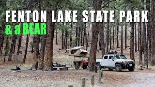 Fenton Lake State Park, NM & a Bear