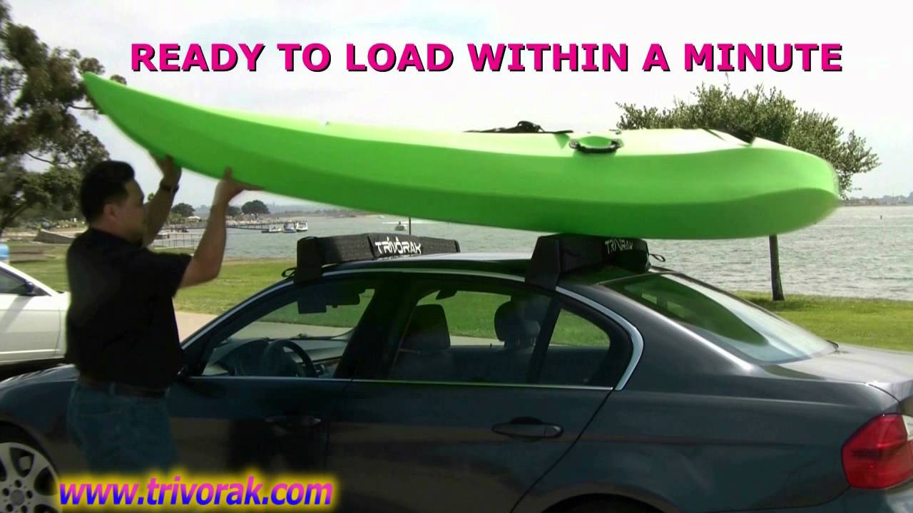 how to mount a kayak on a car without a rack