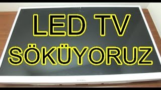 Led Tv Sökümü Ve İçinden Çıkanlar-SUUNY LED TV  (Led Tv Repair)
