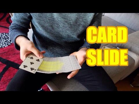 CARD SLIDE - FANCY MOVE - card slides on spread - EXPLAINED / TUTORIAL