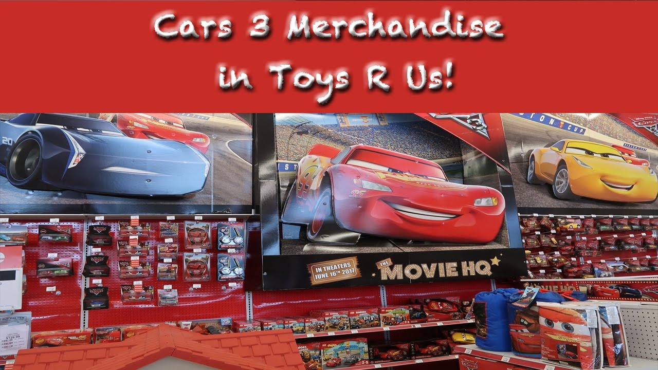 cars 3 merchandise in toys r us youtube. Black Bedroom Furniture Sets. Home Design Ideas