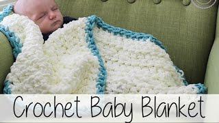 Easy Beginner Crochet Baby Blanket | Sewrella