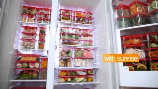 SUNRISE - WIDE BLOCK SERIES - FRIDGE - WITHOUT & WITH SUNRISE (SILENT) BY HEAP SENG GROUP