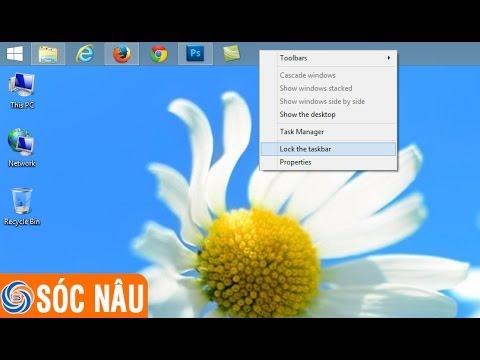 Cách Di Chuyển Thanh Taskbar Trên Windows 8