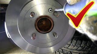 замена задних тормозных дисков и колодок