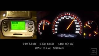 Honda Accord 7 2.4 MT  0-100, 0-150, 0-200 racelogic acceleration, 402m