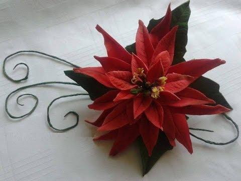 Stella Di Natale In Pasta Di Mais.Stella Di Natale In Pasta Di Zucchero Diy Poinsettia Sugar Flower Gum Youtube