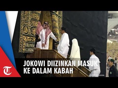 Detik-detik Jokowi Masuk ke Dalam Kabah saat Umroh