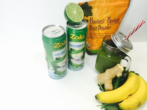 Green Monster made with Zola Coconut Water