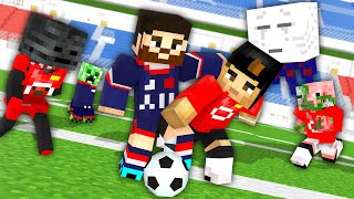 Monster School: MESSI vs RONALDO FootBall Challenge - Minecraft Animation [Manchester United - PSG]