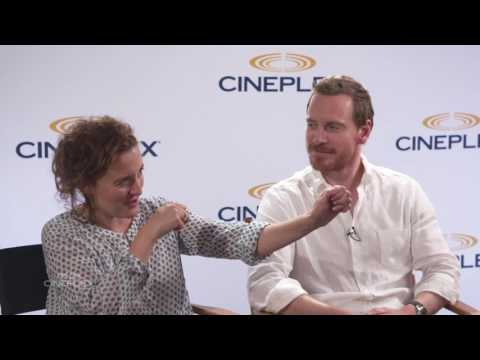 Michael Fassbender and Lyndsey Marshal on Trespass Against Us