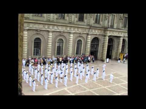 Changing of Guards at the Royal City Castle Stockholm 23rd June 2013 - Royal Swedish Navy Cadet Band