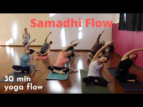 30 Minute Yoga Class Samadhi Flow Youtube
