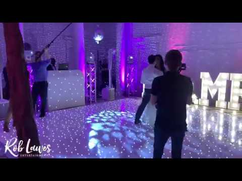 Vinnie and Martins first dance at Compton Verney with Rob Lawes Entertainments