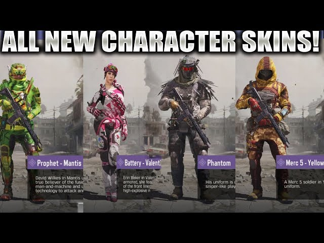 Character Skins Leaked For Season 3 Of Cod Mobile