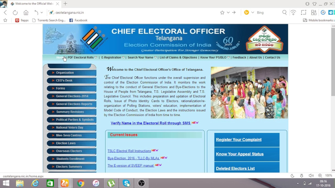 Ceo Telangana Voter Id Card Download