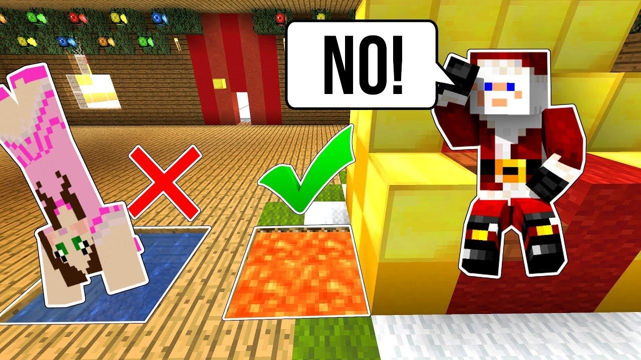Minecraft: ESCAPE SANTA'S WORKSHOP!!! - FIND THE BUTTON SANTA'S VILLAGE - Custom Map