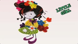 Paper Quilled |  'Evelynn' cute little girl Doll by | Quilling ArtWorks