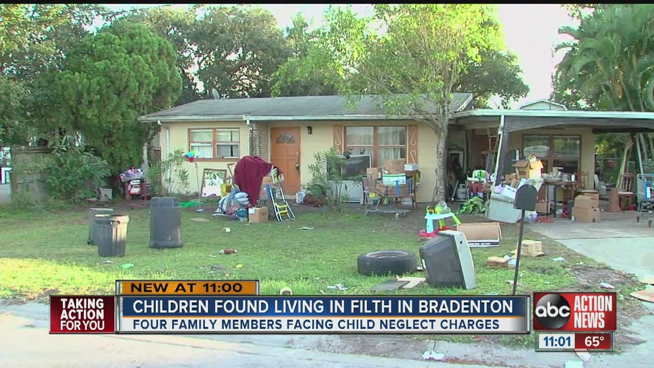 Four arrested for child neglect, two children removed from filthy Bradenton home