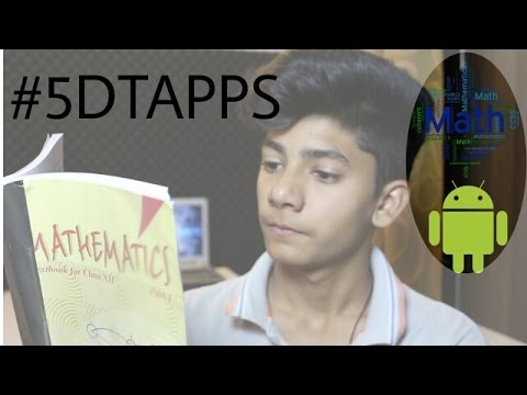 Top 5 Apps Which can  help in maths  lStudy maths With the help of your mobile! l #5DTAPPS