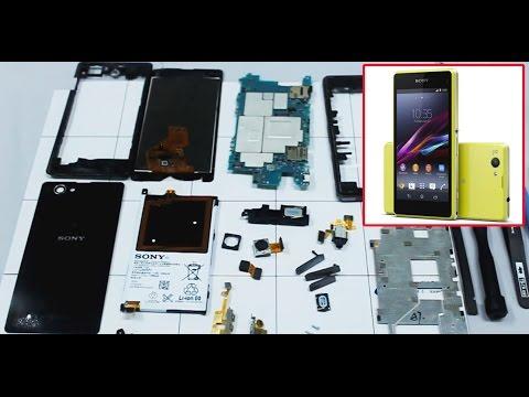 SONY Z1 compact D5503 как разобрать, ремонт, замена дисплея и сенсора