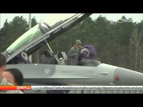 14 US F-16 arriving to Ämari Air Base in Estonia