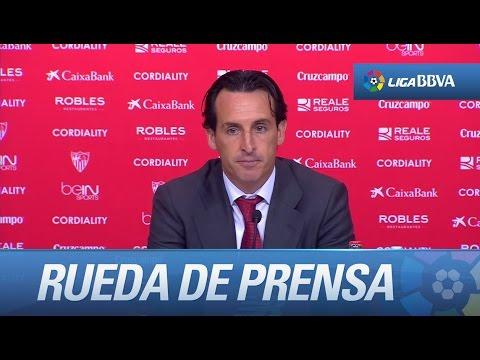 Rueda de prensa de Unai Emery tras el Sevilla FC (1-0) Valencia CF