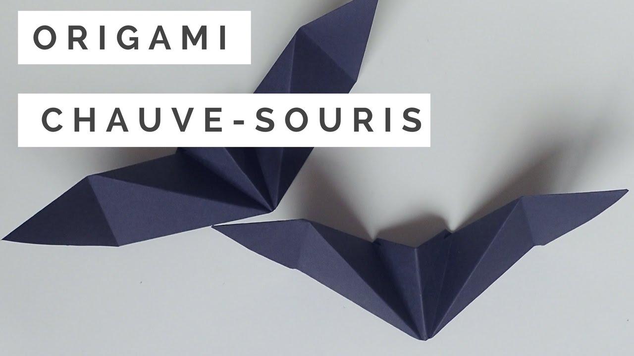 tuto origami chauve souris - youtube