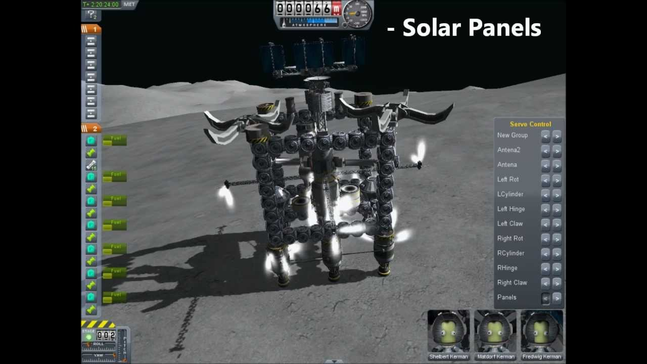 Kerbal Space Program - Deploying Mun Base - YouTube