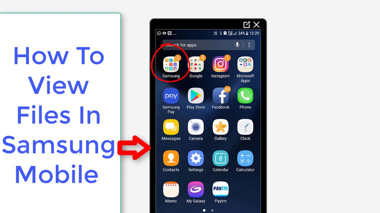 how to delete files on samsung phone