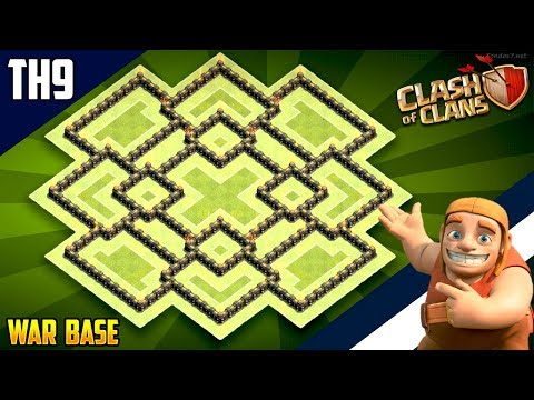New INSANE TH9 WAR/TROPHY[defense] Base 2018!! COC Town Hall 9 War Base Design - Clash Of Clans