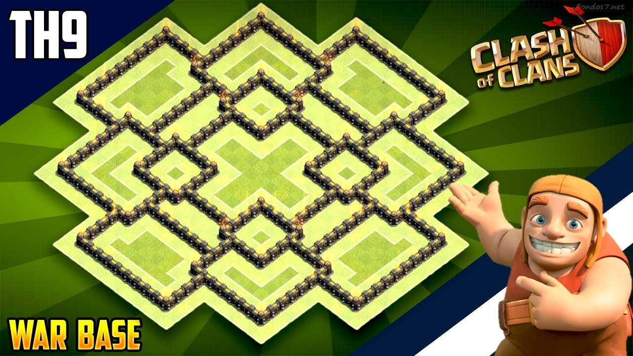 New INSANE TH9 WAR/TROPHY[defense] Base 2018!! COC Town Hall 9 War Base Design – Clash of Clans