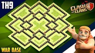 New INSANE TH9 WAR/TROPHY[defense] Base 2018!! COC Town Hall 9 War Base Design - Clash of Clans