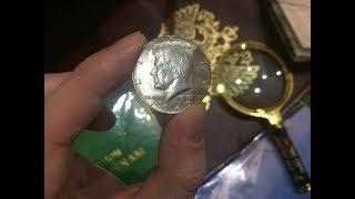 Серебро США. 50 центов - Пол доллара 1967 года с Кеннеди (50 cent - half dollar)