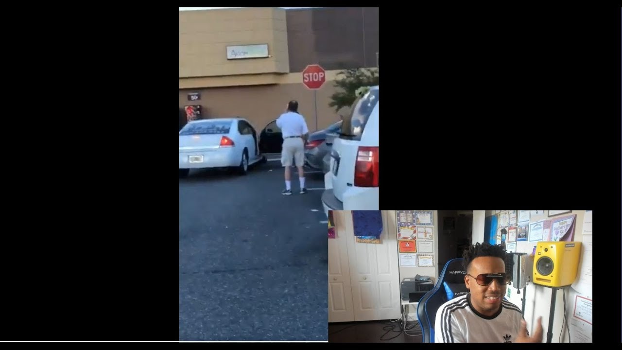 A WIE WS trying to attack a pregnant black woman gets G Checked by a Black Man!!!