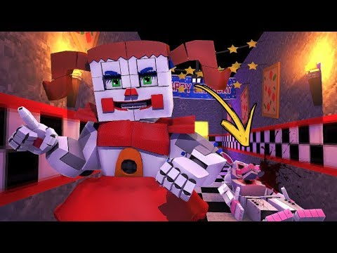 Circus Baby Kills Funtime Foxy!- Minecraft FNAF Roleplay