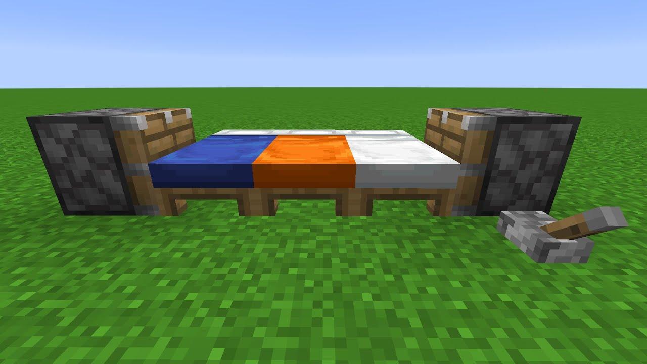 blue bed + orange bed + white bed = ???