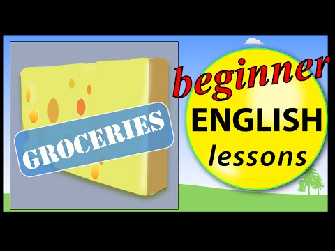 Groceries in English | Beginner English Lessons for Children