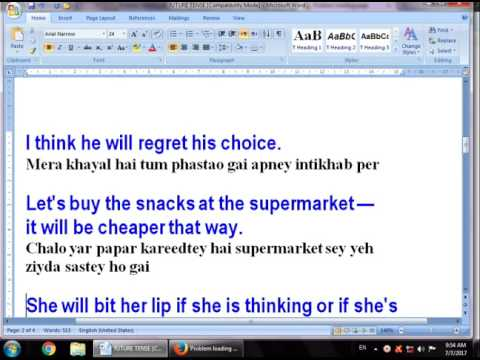 Lesson Two how to use the most common and useful sentences in future simple tense