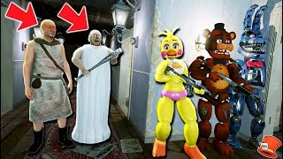 CAN THE ANIMATRONICS HIDE FROM GRANPA & GRANNY! (GTA 5 Mods For Kids FNAF RedHatter)