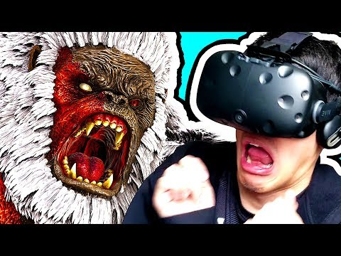 ATTACKED BY A GIANT GORILLA IN ARK PARK VR! (Ark Survival Evolved VR Gameplay)