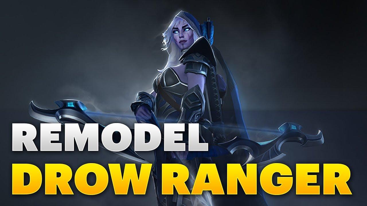 Dota 2 Drow Ranger Remodel Youtube