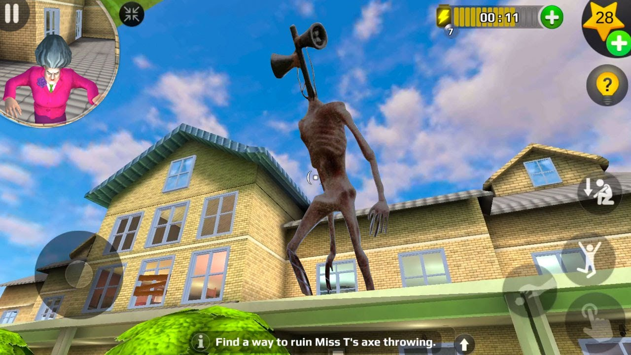SIREN HEAD Enter In Miss T House - Scary Teacher 3d New Prank | Funny Android game