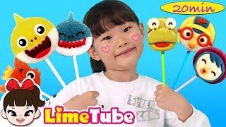 [20]라임의 상어가족 핑거패밀리와 인기동요 댄스영상 모음 LimeTube & finger family song