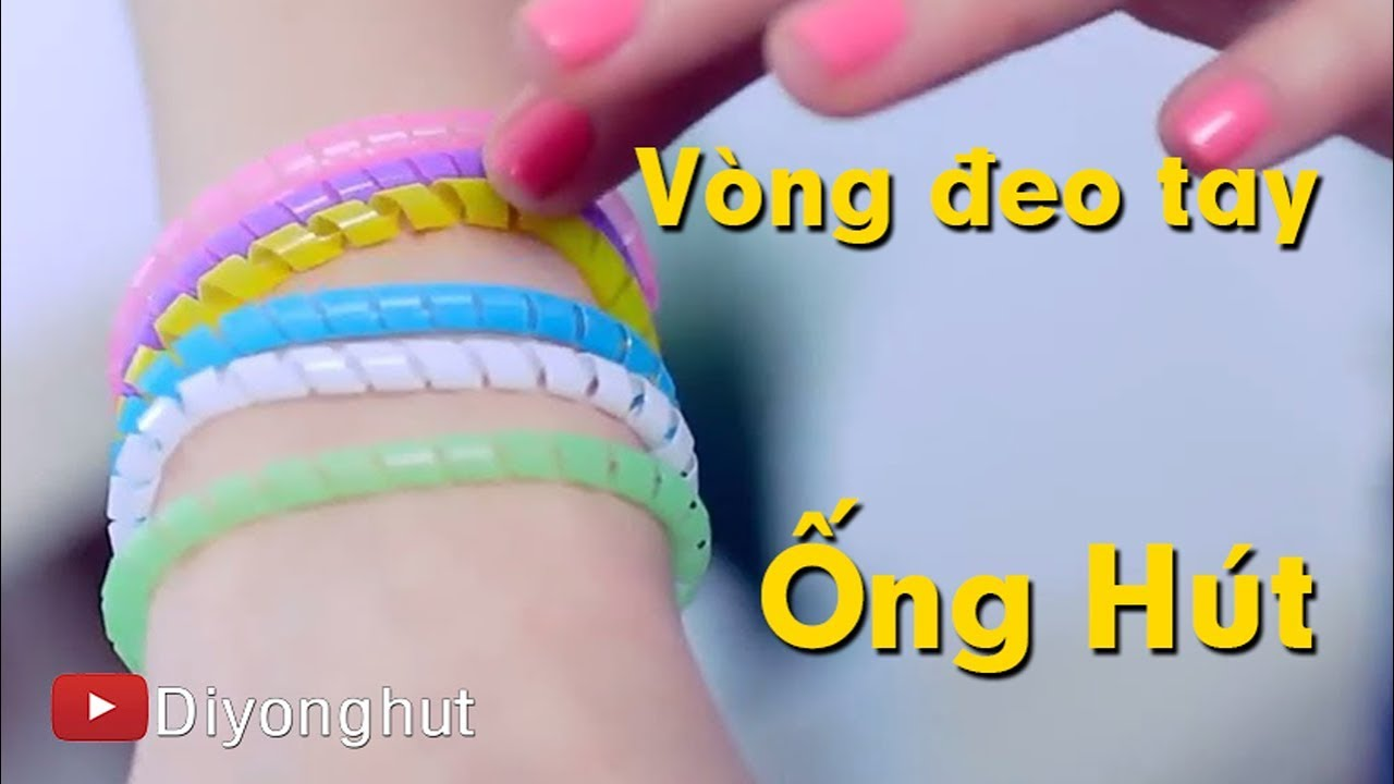 Hay: cách làm vòng đeo tay cực đẹp từ ống hút | Diy Ống Hút