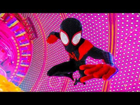 Майлз Моралес приходит на помощь Людям-Паукам! Человек-паук: Через вселенные. 2018