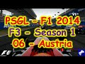 PSGL [F3] - F1 2014 PS3 - Season 1 Round 06 - Austria - Highlights 14/12/2014