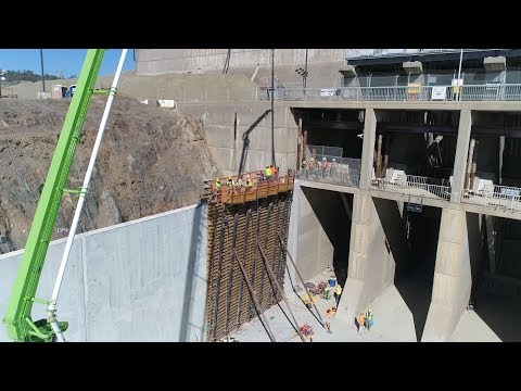 Final Wall Placement on the Main Spillway